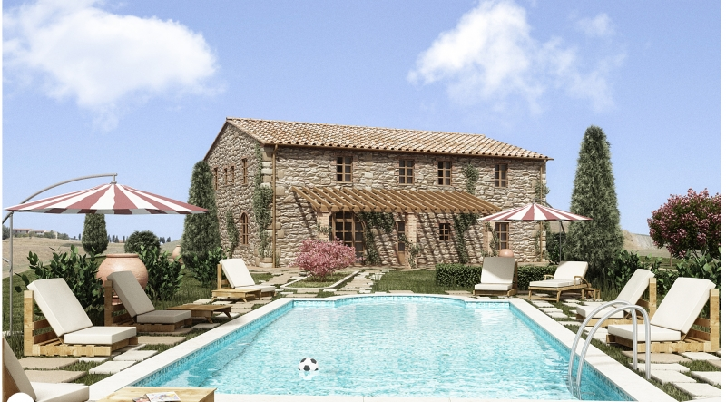 New Farmhouse in the first countryside of Volterra